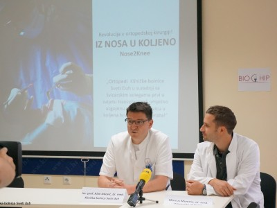 Press Conference NosetoKnee2 first patient treated in Croatia